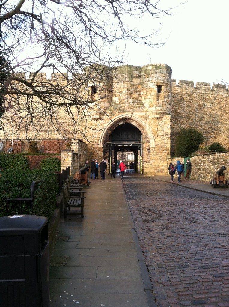 Entering the castle walls