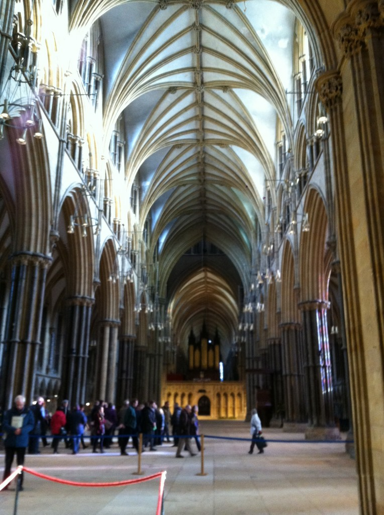 The view when you first enter the cathedral. This was before we started our tour