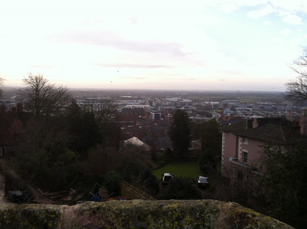 The view over the castle walls of the city of Lincoln
