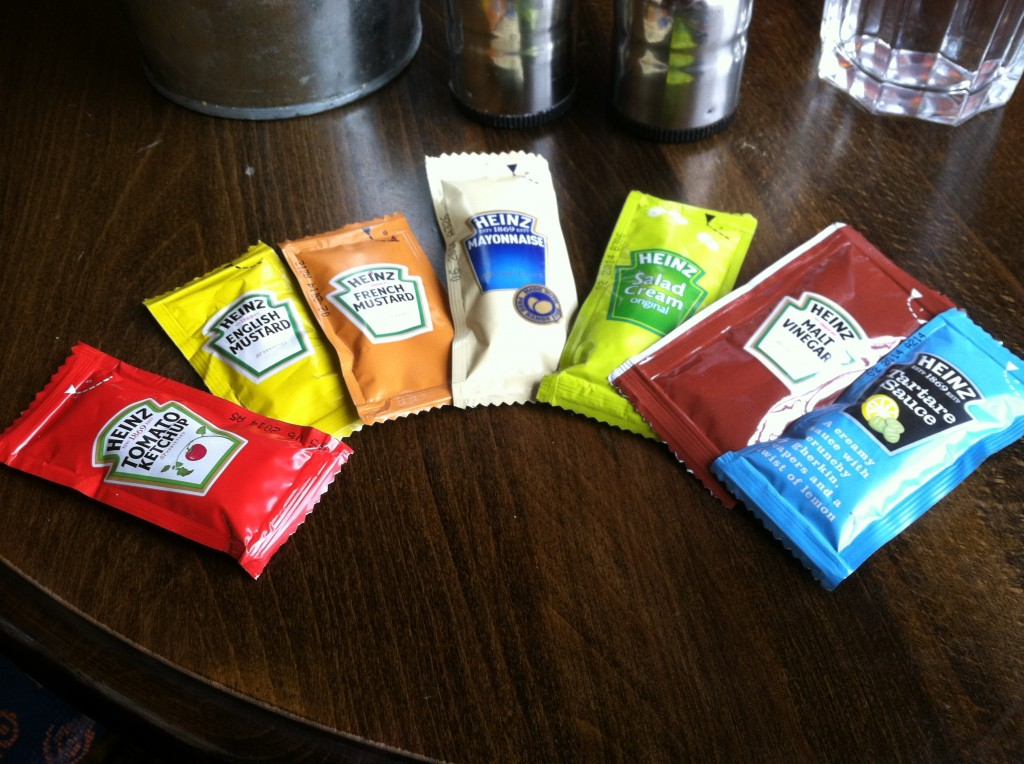 ...AND all the condiments I tried