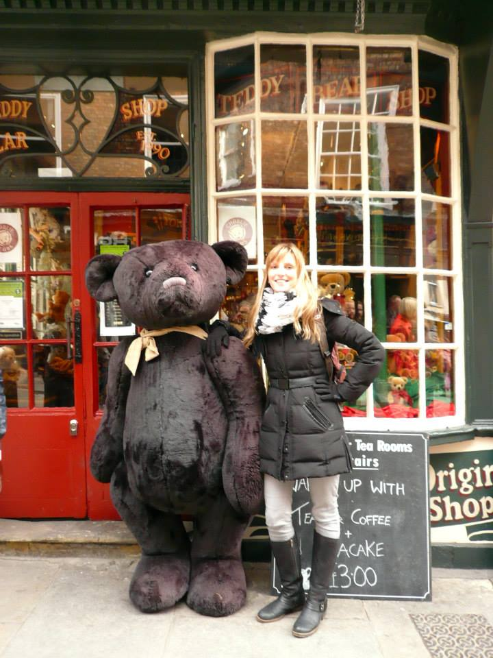 Outside the Teddy Bear Tea Room