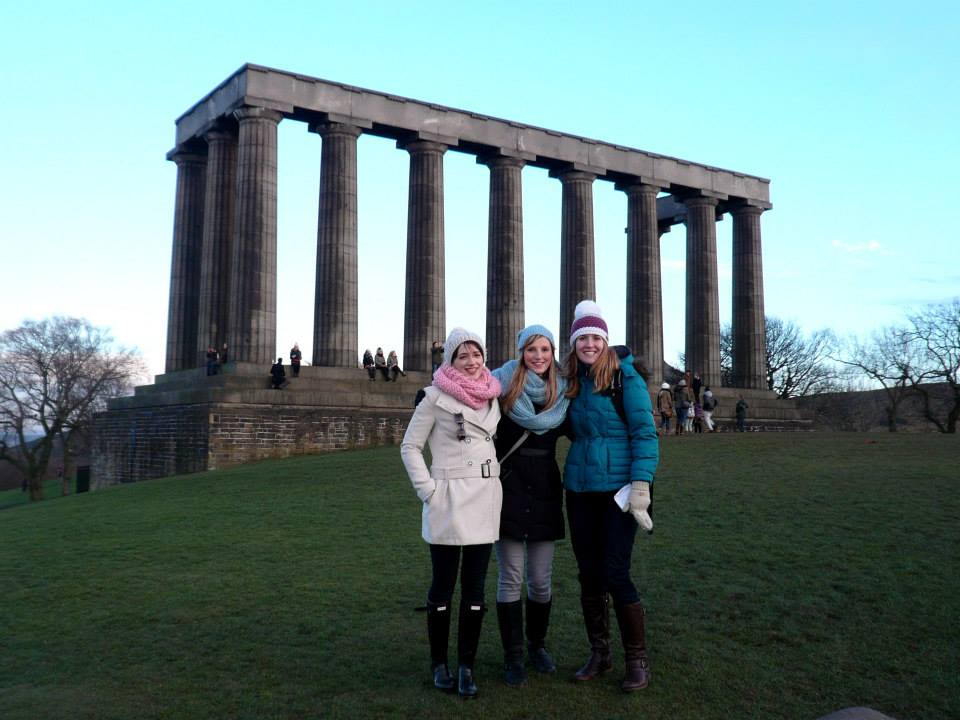The three of us at the Shame of Edinburgh