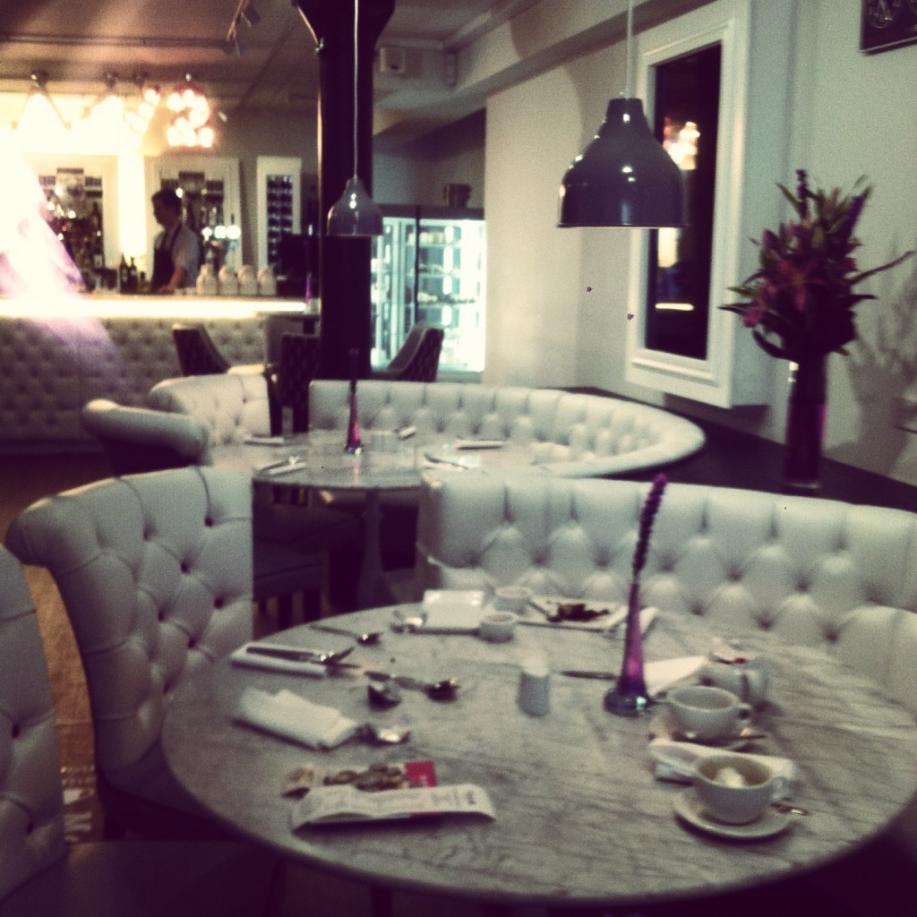 Inside the tea room