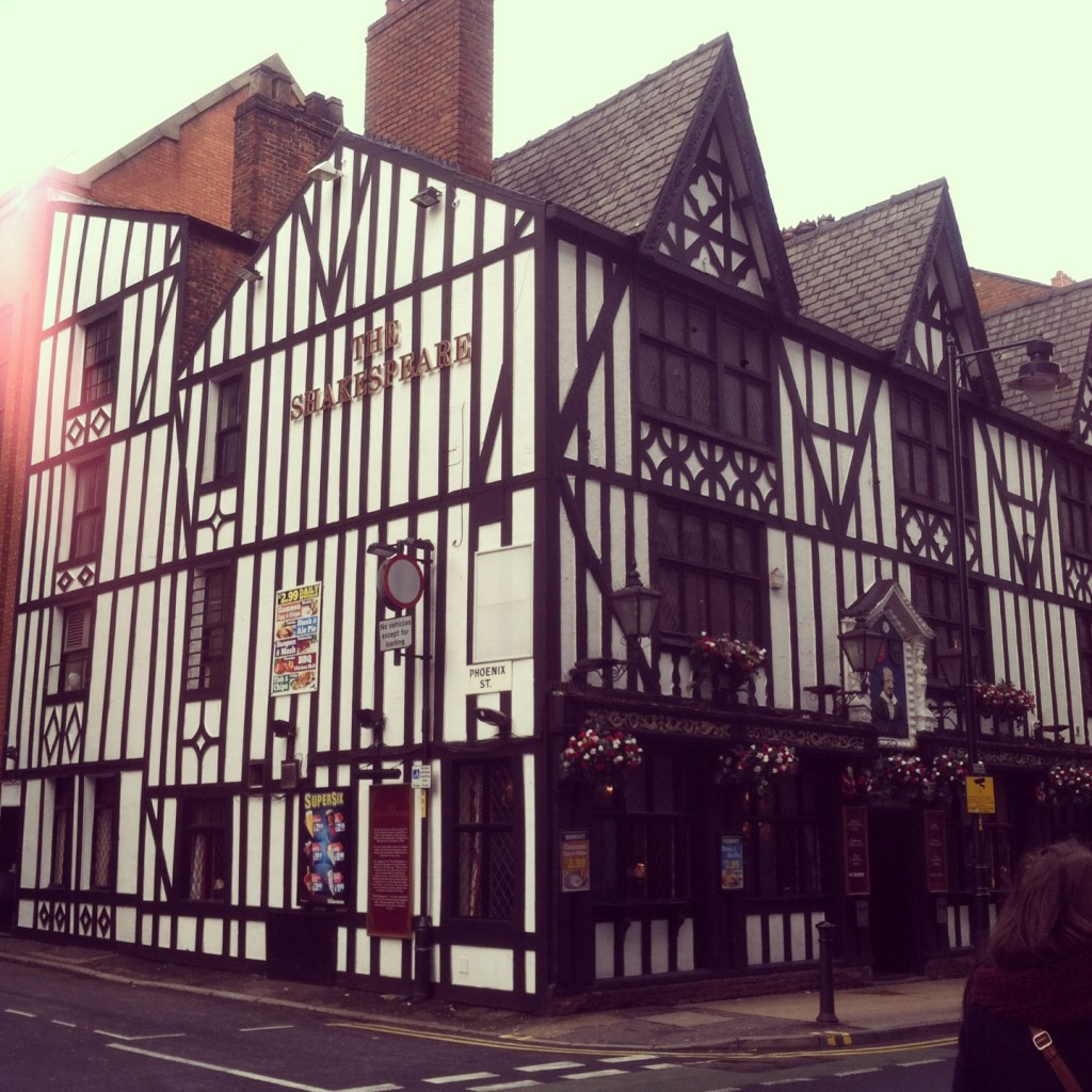 The Shakespeare (one of the interesting buildings in the city centre)