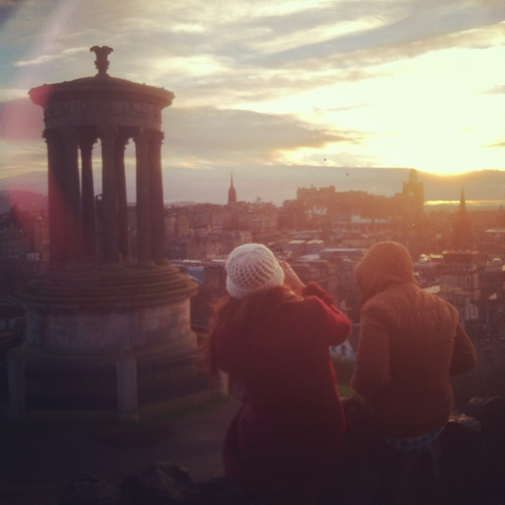 And a creative view of Edinburgh at sunset :)