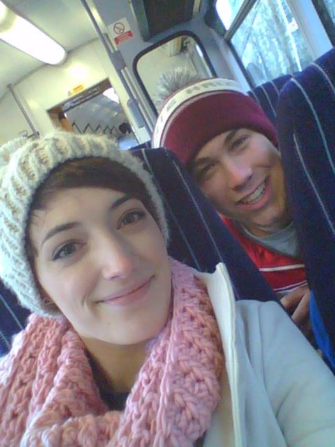 Rob and I on our first train ride