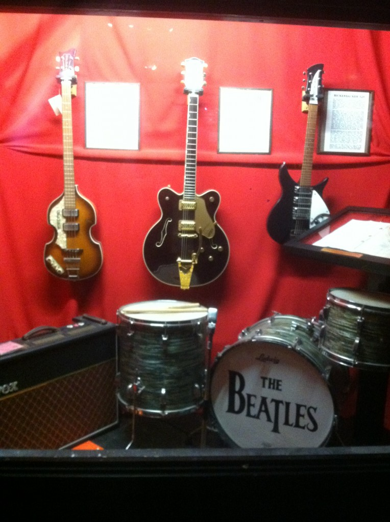 Some of the Beatles instruments