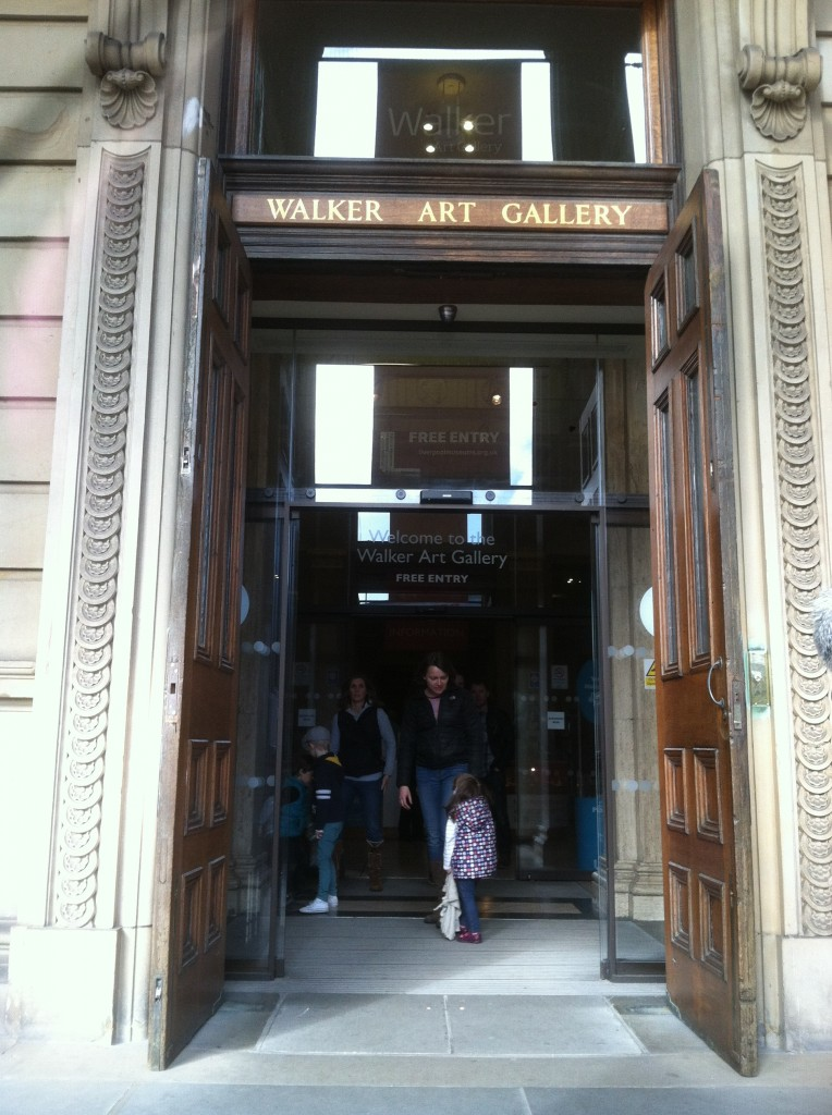 Entering the gallery