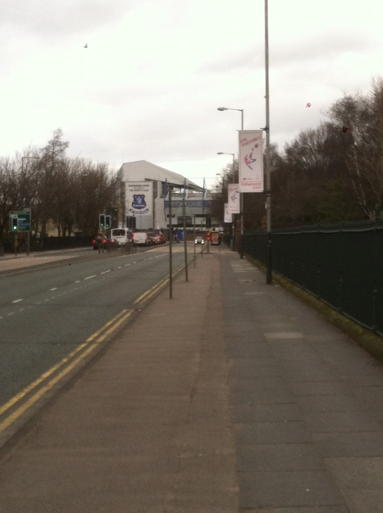 Approaching Goodison Park