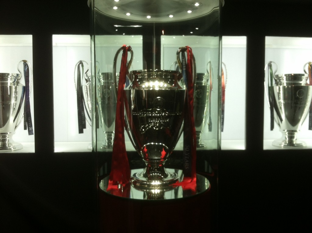 Liverpool's Champions League cup room