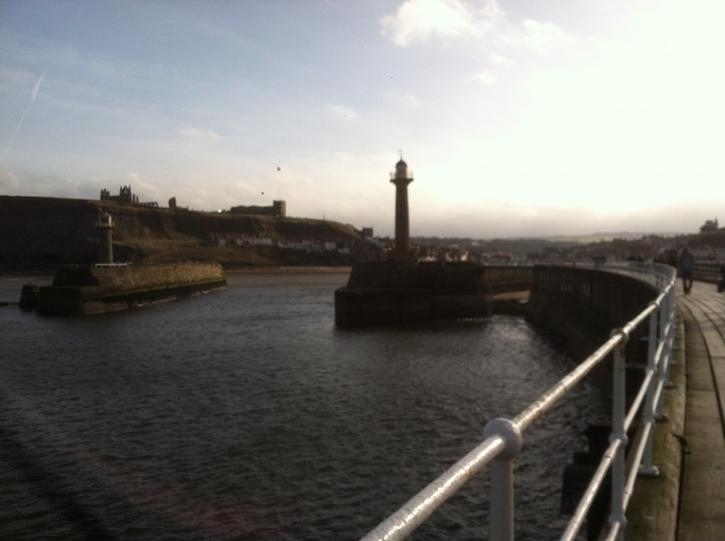Looking back to Whitby