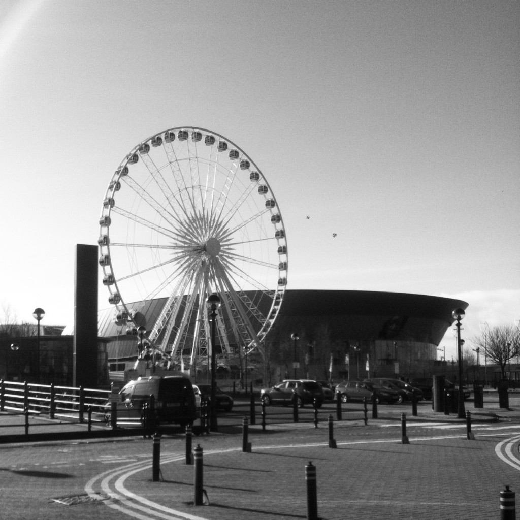 The ferris wheel at Albert Dock