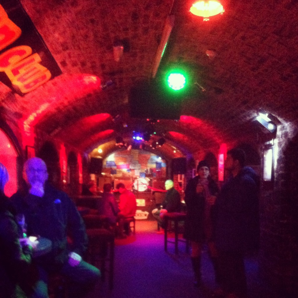Inside the club