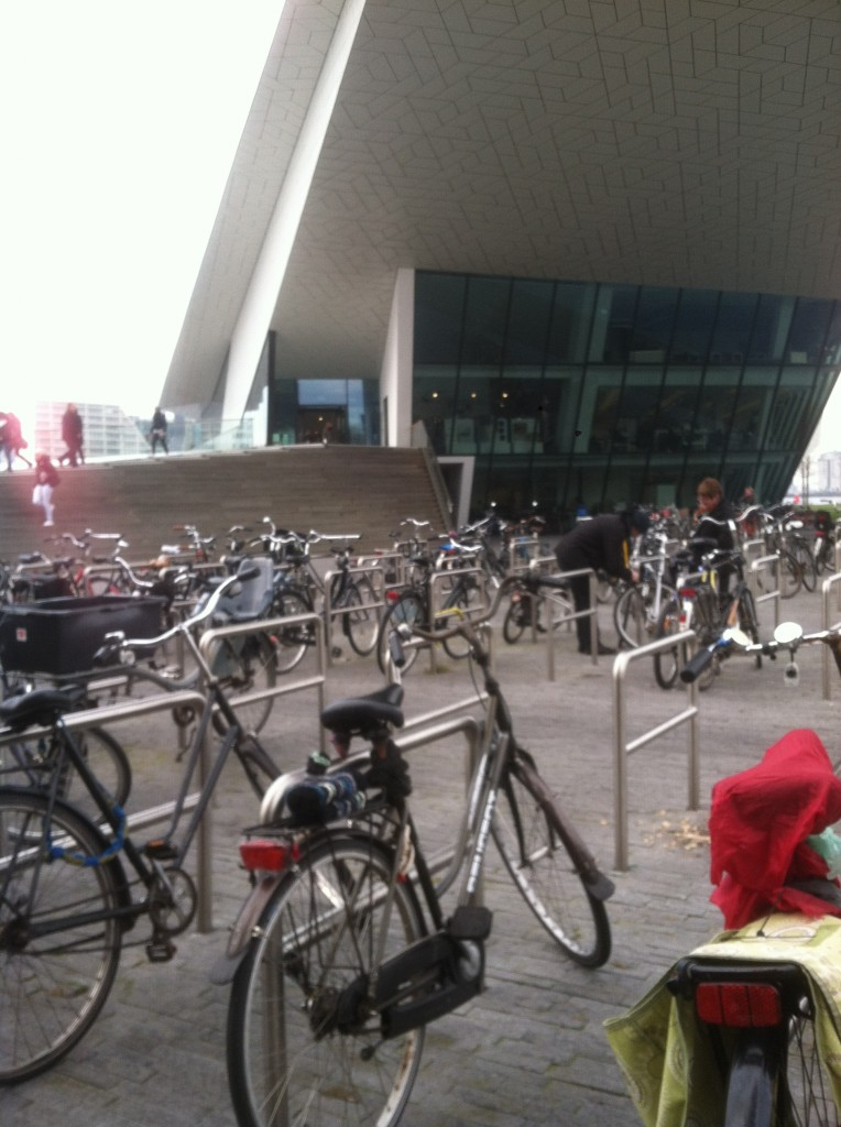 bike parking at the Eye