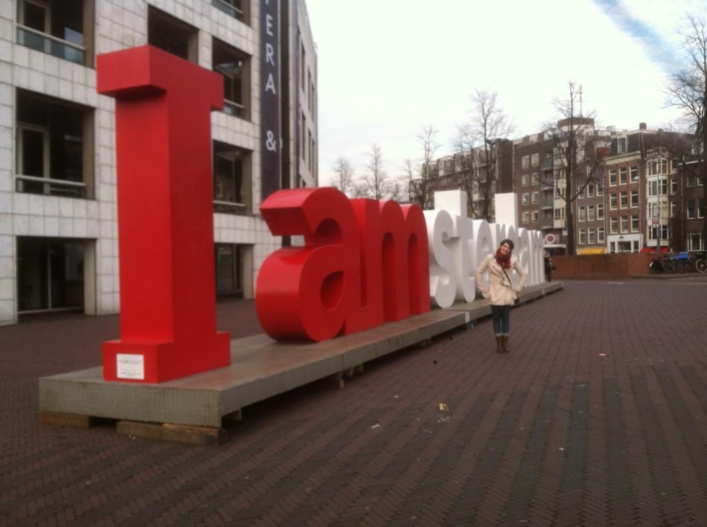 Me at I amsterdam