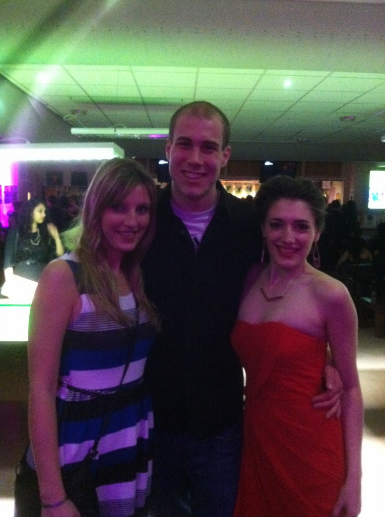Rob, Barbora and I at the after party