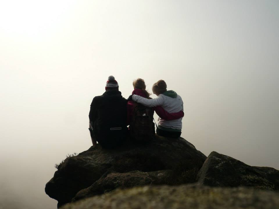 The three of us near the top