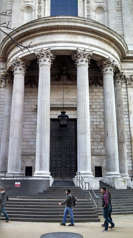 The entrance to St. Paul's Cathedral